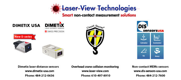 The laser-View Family of noncontact industrial sensor and systems