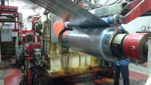 Metals processing: determining coil diameter with Dimetix laser distamce sensors