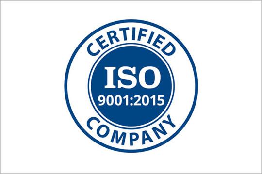 ISO-9001-2015 certification logo