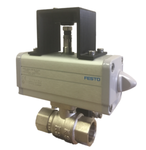 Rotary valve position monitoring solution built around a DIS Sensors QR30 rotary encoder.