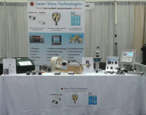 Laser-View Technologies booth at Kendall Electric Group Technology Summitt 2018 in Grand Rapids, MI