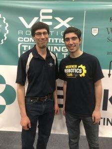 Steven Lubeck at VEX Robotics Competition